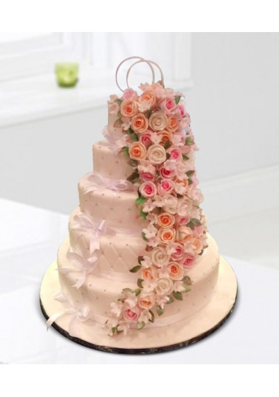 Flower Garden Wedding Cake